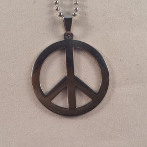 Stainless Steel Love Peace Chain Necklace